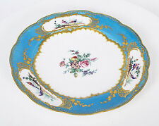 Antiguo 18th Century Sevres Plato De Porcelana Chateau Trianon