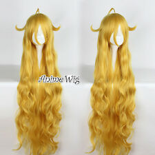 Fairy Tail Mavis Vermilion Golden Blonde Long 120CM Anime Cosplay Wig + Wig Cap