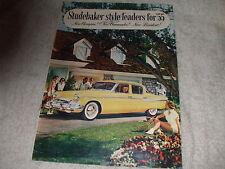 Vintage Original 1955 Studebaker Sales Brochure