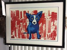 George Rodrigue Blue Dog Big Apple Blues xx/50 signed numbered print New York