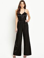 Black Plus Size 20 Simply Fab Beaded  Wide Leg JUMPSUIT Party Occasion Be £55