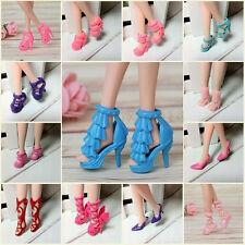10 Paar Schöne verschiedene Schuhe Heels Sandalen für Puppen Barbie Doll bunt