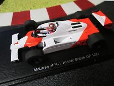 1/43 McLaren mp4-1 #7 John Watson WINNER BRITISH GP 1981 SPARK s4300 OVP!
