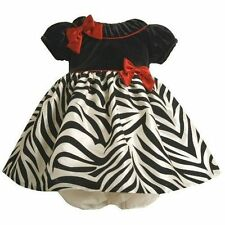 BONNIE JEAN BABY Girl Zebra Christmas Party Fun Formal Dress 12 Months