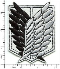 10 Pcs Embroidered Iron on patche Angel Wing Black/White Jesue 6.9x9cm AP058bB