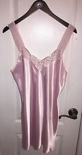 New California Dynasty Pink Sleeveless Night Gown Sleepwear Dress Chemise Large