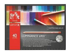 Caran d'ache luminancia Lápices de Color-Caja de 40 Lápices de Color