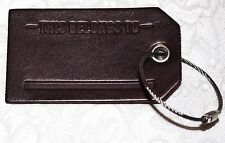 NEW Leather Luggage Tag & Pen From Marlboro