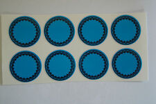 "12  BLUE  STICKERS 1"" CROWN GREEN BOWLS LAWN BOWLS FLATGREEN  INDOOR BOWLS"