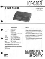 Sony Original Service Manual für ICF-C 303L