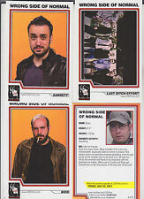 2011 SDCC COMIC CON EXCLUSIVE WRONG SIDE OF NORMAL PROMO CARD SET OF 5 NICK RYAN