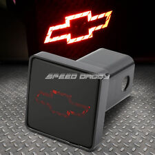 "BULLY 2"" RECEIVER TRAILER TOW HITCH COVER/PLUG+LOGO LED BRAKE LIGHT FOR CHEVY"