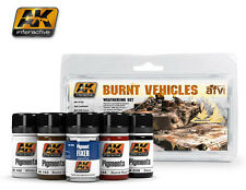 AK Interactive AKI 4120 - Burnt Vehicles Weathering Set