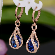 Hot 1pair 18k Gold Filled Fashion Cubic Zirconia Womens Jewelry Dangle Earrings