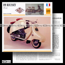 #052.04 Scooter P.P. PP ROUSSEY 170 1955 Fiche Moto Motorcycle Card