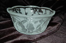 Clear & Frosted Floral Open Candy Dish / Serving Bowl / Relish Dish