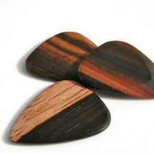 Timber Tones Luxury Wood Guitar Pick - Macassar Ebony - Single Pick