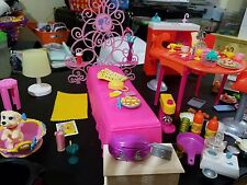 Barbie Doll Bedroom Compact Kitchen Wardrobe Vanity Chair Couch + More