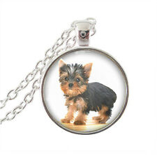 LOVELY YORKSHIRE TERRIER PUPPY Yorkie DOG necklace.comes in sacchetto regalo in organza
