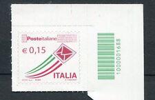 Italia Repubblica 2015 Posta ordinaria da 0,15 con codice a barre  MNH