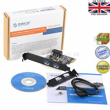 Orico pme-2u Usb 3.0 2 Puertos Pci Express Host Controller Adaptador De Tarjeta Para Windows