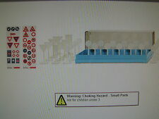 HO SCALE 1:87 WIKING TRAFFIC SIGNS ACCESSORY SET PLASTIC #001811