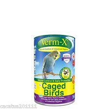VERM-X NATURAL CONTROL OF INTESTINAL HYGIENE FOR CAGED BIRDS 100G