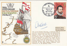RN2b 300th Anniversary of Battle of Sole Bay - HMS Warspite.signed Cdr C L Wood