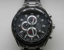 USED CASIO EDIFICE EF-539D-1AVEF MENS DIVERS CHRONOGRAPH CHROME/BLACK