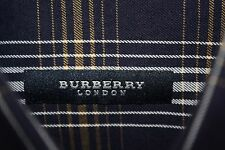 BURBERRY LONDON Blue Button Down Collared Plaid 100% Cotton Shirt Size M