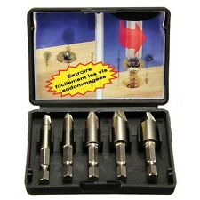 5PCS Easy Speed Out Screw Extractor Remover Drill Tool Set 1/4″Hex Shank