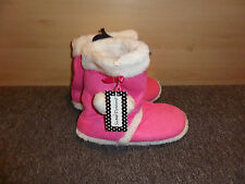 NEW FAUX FUR SNUGG SLIPPER PINK BOOTS SIZE UK 5 EU 38