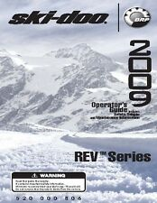 Ski-Doo owners manual book 2009 REV SERIES 550F MX Z, GSX, GTX & Summit