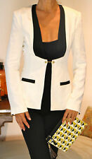 SASS & BIDE Ivory Black Silk Tuxedo Jacket 36 UK 6-8 THE ALPHA