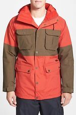 BURTON FRONTIER WATERPROOF RIPSTOP JACKET CAMPFIRE RED MENS SIZE XL X-LARGE NEW