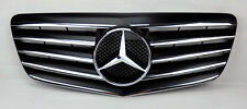 Mercedes E Class W211 07-09 5 Fin Front Hood Sport Black Chrome Grill Grille