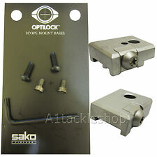 Optilock Bases/Base for SAKO Rifle Mounts - Long 75 IV-V 85 S-L etc Stainless
