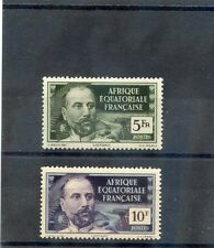 FRENCH EQUATORIAL AFRICA Sc 70-1(YT 60-1)**VF NH 1937 5F, 10F, HIGH VALUES $27