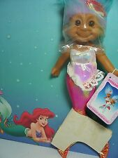 "CORAL HANGING MERMAID WITH HANG TAG - 9"" Russ Troll Doll - NEW"