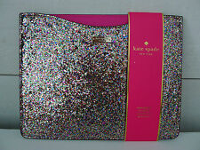 KATE SPADE Sparkle IPAD SLIP SLEEVE 2 3 GEN Gold PINK COVER Case GLITTER Rare !