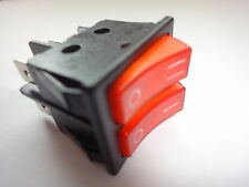 Doble Polo Electric Fuego Rocker Switch 16amp 250v 30mm X 22mm
