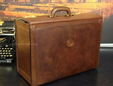 GUCCI Italy Burnished Rustic Leather Pilot Lawyer Doctor Briefcase Mens Bag