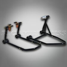 ESTW40 Paddock Stand Single Sided SET Rear + Front Motorcycle Black Ducati 1098