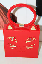 CHARLOTTE OLYMPIA KITTY CAT CLUTCH RED        MSRP$1075