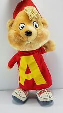 "Alvin and The Chipmunks Pull String Plush 20"" Stuffed Animal Talks 1983 CBS Toys"
