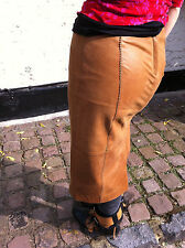 "NEXT ""ReaL LeaTHeR"" BROWN*TAN Skirt*UK*8 EU 36 /waist 30 INCH /UK 10? S"
