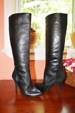 New $198 JESSICA SIMPSON Womens NAVEENS Knee High Leather/Suede Boots 5 B Black