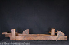ANTIQUE WOODEN CARPENTER BAR CLAMPS, GOOD COND, SOLD AS IS,  FOR DECORATIVE USE