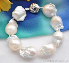 X0378 Big baroque keshi reborn pearl bracelet 8inch