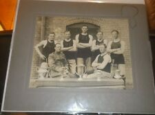 Early 1900s Military BASKETBALL Team Championship Cabinet photo w/ Trophies